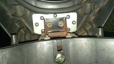 機車座墊椅墊固定片-光陽G4機車座墊椅墊坐墊連接固定片,有了這一片不用換座墊。也有自動椅墊用固定片規格。