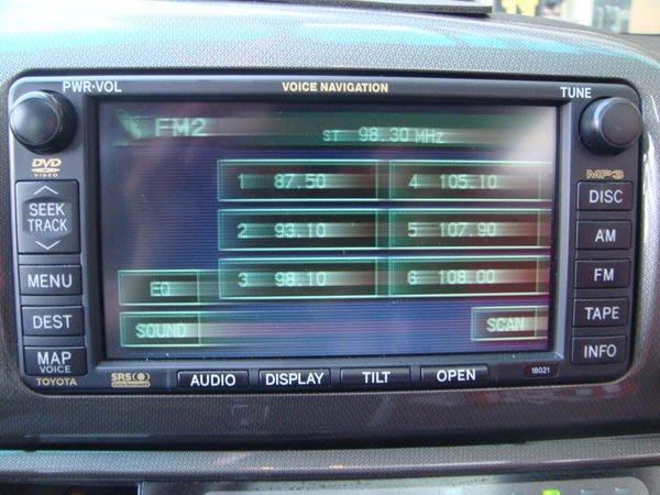 震撼立~TOYOTA WISH CAMRY富士通DVD螢幕主機-專門修理無畫面-畫面模糊-換排線