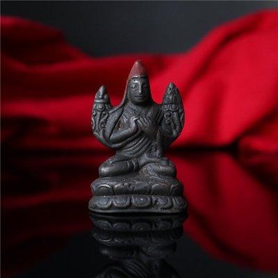 【玉寶軒】西藏直發手工製作手工鑄模隨身小佛宗喀巴大師 C1972