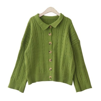 上衣 毛衣 DuForm很仙的毛衣女韓國秋季新款溫柔風單排扣小翻領寬松針織外套