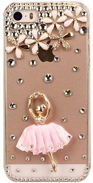 【衝評價 賠本出售】芭蕾舞女孩iphone X 水鑽手機殼蘋果HTC SONY水晶鑲鑽手機外殼 帶鑽保護套A007