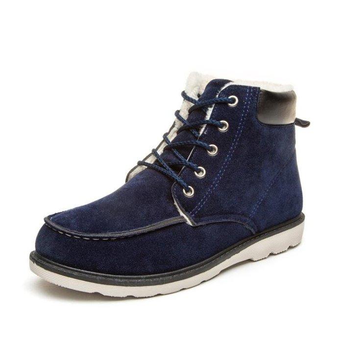 冬季棉鞋加厚馬丁靴加絨保暖男士雪地靴短靴高筒工裝靴男鞋子