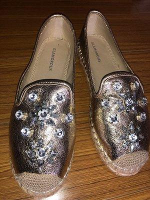 歐洲帶回glamorous水晶懶人鞋s...