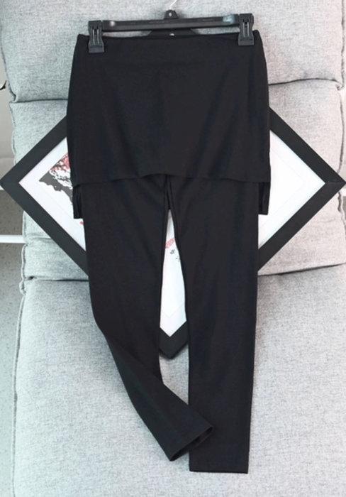 國外大排運動緊身褲有裙款size:XL