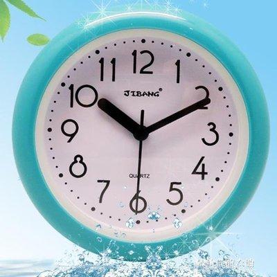 ZIHOPE 浴室鐘防霧靜音壁掛時鐘廚房創意衛生間時鐘石英鐘錶ZI812