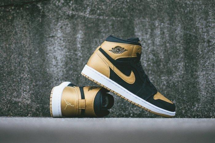 (阿信)NIKE AIR JORDAN 1 HIGH MELO 332550-026 黑金 喬丹 一代 籃球潮鞋