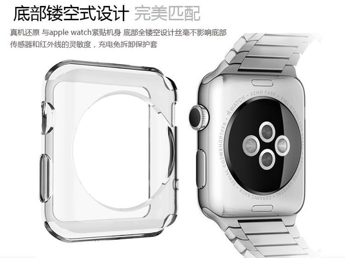 【小宇宙】apple watch 38mm 42mm 智能手錶保護套 TPU超薄 透明 多色 手錶套 軟殼 防刮 抗摔