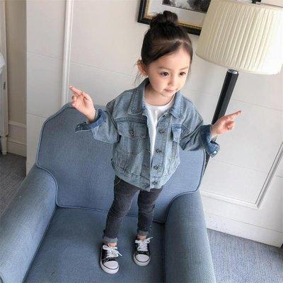 女童牛仔外套秋裝新款寶寶嬰兒童中小童夾克上衣1-2-3-4歲5