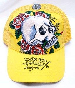 Ed Hardy 稀有 骷髏頭 四朵玫瑰   全新 潮帽 卡車帽 現貨 鴨舌帽