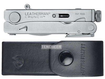 <TENCHEER> Leatherman Crunch Pocket Multi-Tool 68010101K 萬用工具 (含高級皮套) 多功能 露營 工具鉗