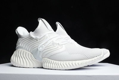 D-BOX  Adidas Alpha Bounce AlphaBounce 純白色 跑步鞋 運動休閒