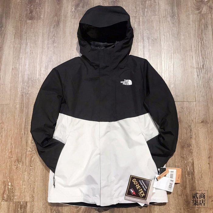 (貳柒商店) THE NORTH FACE GORE-TEX 羽絨衣 黑白 男款 機能型 兩件式 防水 透氣 外套