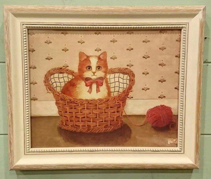 《齊洛瓦鄉村風雜貨》義大利貓咪版畫 掛畫 居家裝飾