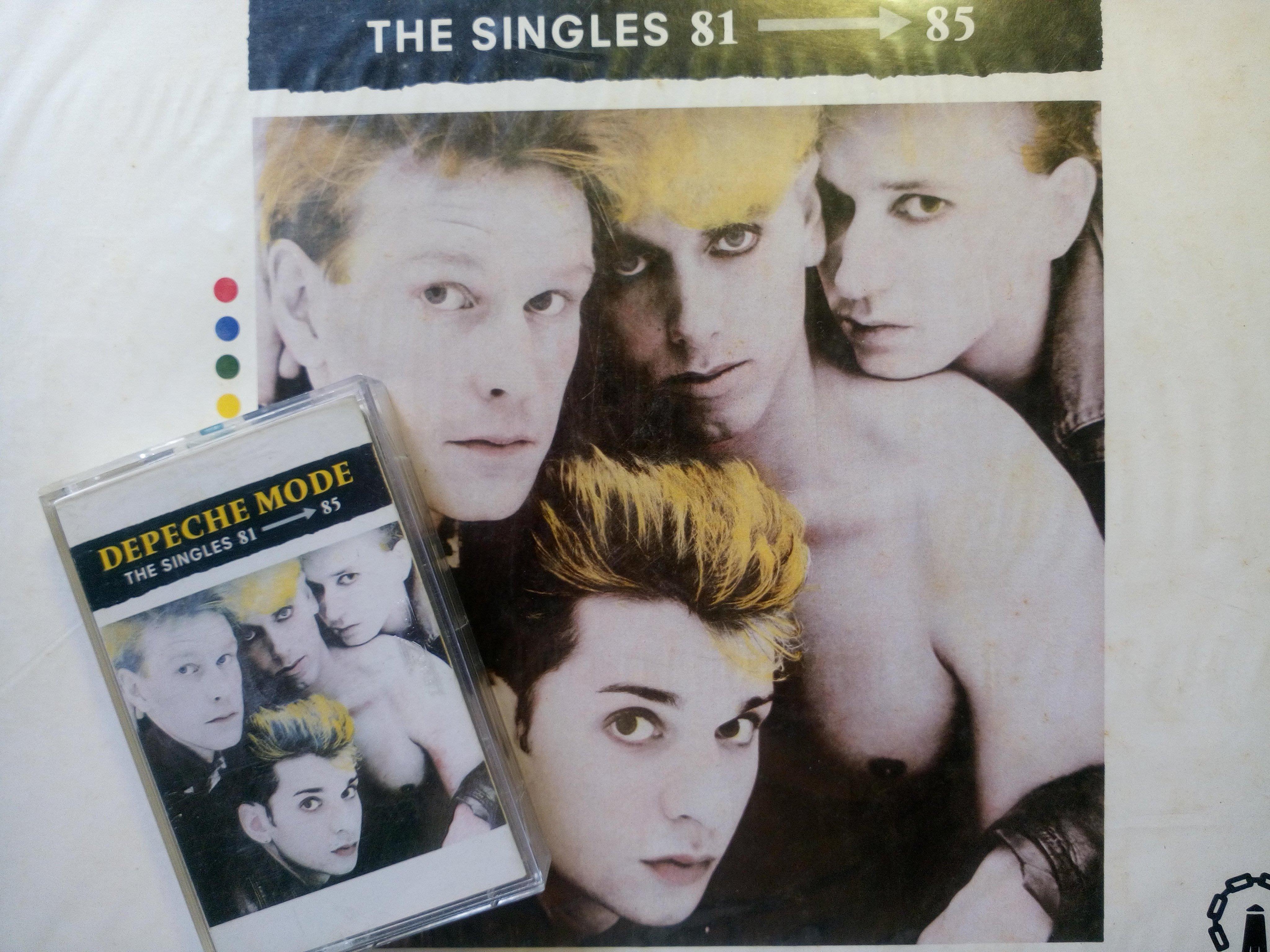 流行尖端Depeche Mode 首張全球精選輯卡帶錄音帶 1985年封面照片Martin Gore模仿乳房尚屬前瞻