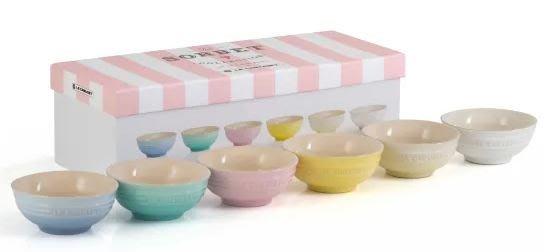 Le Creuset 180ml 6入 陶瓷碗 Sorbet Collection 飯碗 湯碗 雪酪 陶瓷 附禮盒 限量