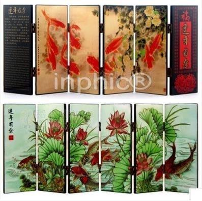 INPHIC-6扇漆器小屏風家居客廳裝飾擺飾特色小 連年有餘