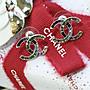 Chanel A95811 earrings 水晶/ 黑 CC 雙色耳...