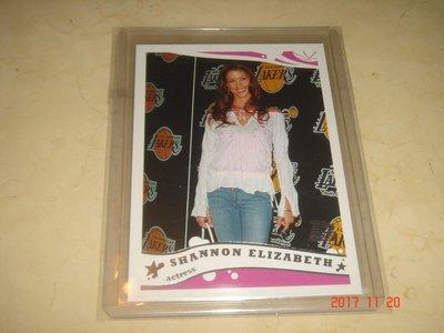 美國職籃 NBA Actress Shannon Elizabeth 2005 Topps #251 球員卡 新人卡