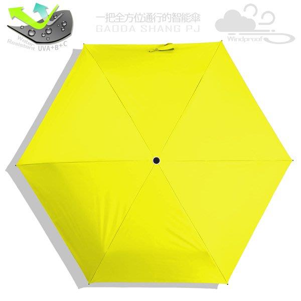 【RAINSKY傘】遮光/撥水_85cm超迷你傘(黃色) / 雨傘UV傘陽傘防風傘防曬傘降溫傘手開傘折疊傘折傘(免運)