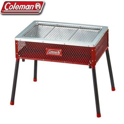 【山野賣客】Coleman CM-21954 酷立架烤肉箱 紅 可調式烤肉箱 烤肉架 烤肉爐 燒烤爐 抽屜式炭盆 露營