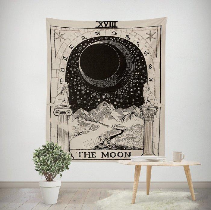 星象掛毯-星星 月亮裝飾掛毯 牆壁掛布 背景布 客廳 臥室 書房掛畫(130*150cm)_☆優購好SoGood☆