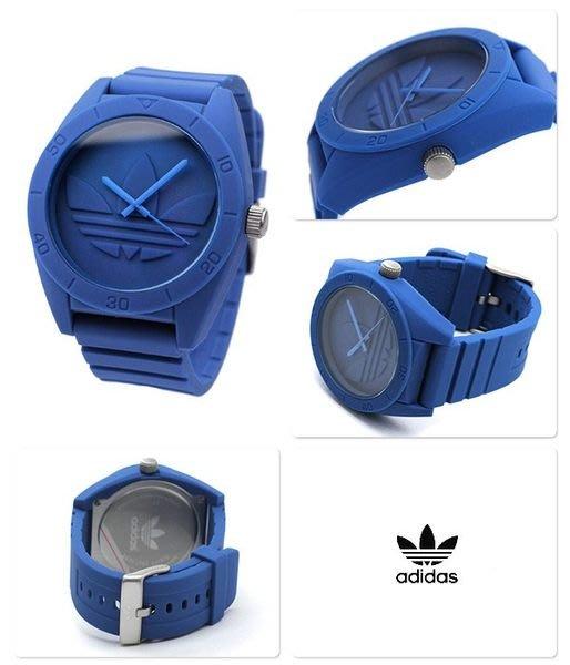【adidas - ADH 2787】全新正品 運動型 橡膠 名錶 手錶 / 深藍色【大錶面 直徑48mm】68g