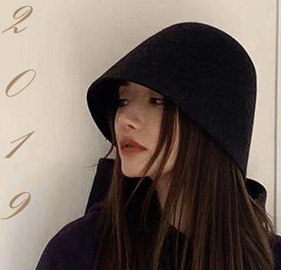【小p包鋪】秋冬新品加厚保暖全羊毛日常小禮帽 百搭時尚冬季漁夫帽M-192DM3A66