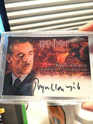 哈利波特 Harry Potter 簽名卡 收藏卡 Crouch 巴堤柯羅奇 artbox