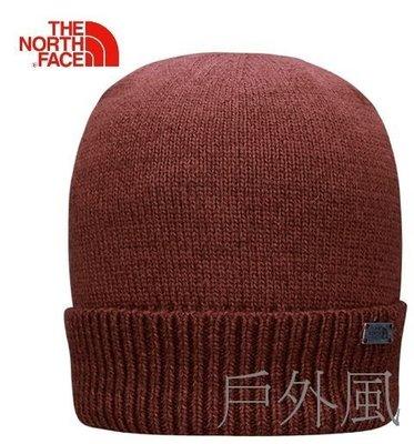 ~滿3000超取郵寄免運~【戶外風】The North Face 舒適保暖休閒旅行毛帽 磚紅色