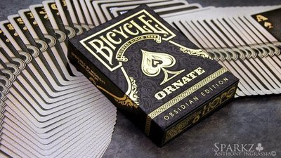 【USPCC撲克】BICYCLE Ornate Obsidian edition