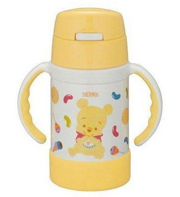 THERMOS 膳魔師 FEC-280DS 米奇米妮 / 維尼  嬰幼兒雙耳學習杯兒童學習杯單手開蓋 操作簡易 超取