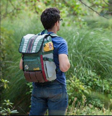 星球大戰周邊波巴費特曼盔甲背包時尚休閑學生書包潮流電腦旅行包