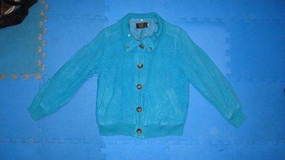 ~保證真品 Veeko 藍色棉質款外套36號~便宜起標無底價標多少賣多少