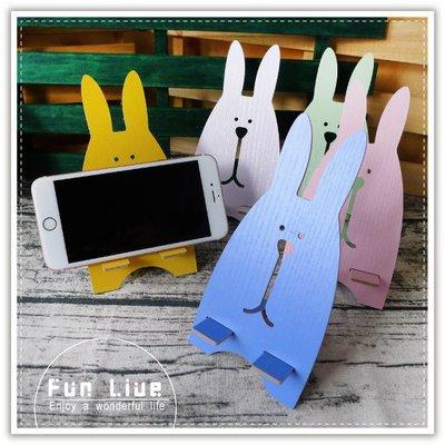 【贈品禮品】B3140 木質可愛兔手機架/手機支撐固定架/手機座/平板支架/懶人架/手機座/名片架/可拆式