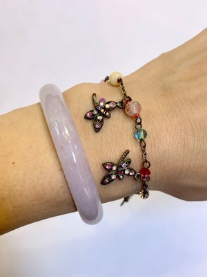 ANNA SUI 蜻蜓水鑽串珠手鍊 保證正品
