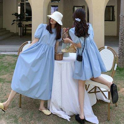 新款裙子2020流行時尚氣質少女感法式小眾泡泡裙顯瘦長短款閨蜜裝