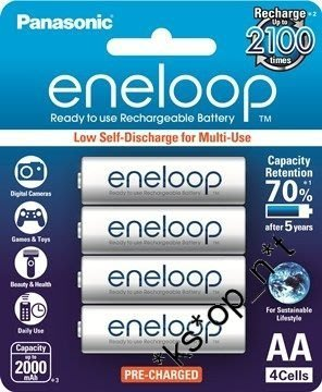 {MPower} Panasonic Sanyo eneloop 低放電 2A, AA Rechargeable Battery 充電池 叉電 - 原裝行貨