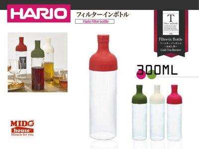 HARIO『 日本 FIB-30 紅酒瓶式耐熱冷泡茶壺/玻璃茶壺 』(三色)300ml《Midohouse》