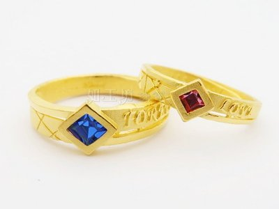 如玉坊珠寶  最好時光 情侶對戒 黃金戒指  ZQ