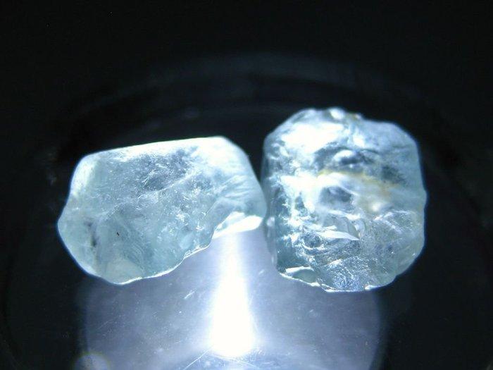 拓帕石 Topaz 天然無燒無處理 自然藍 原礦 標本 礦石 38【Texture & Nobleness 低調與奢華】