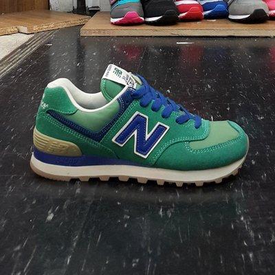 NEW BALANCE nb 574 ML574VGR 綠色 藍色 麂皮 帆布 膠底 質感 復古 慢跑鞋