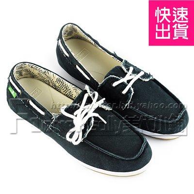賠售~【SANUK】山路克 黑色 做舊素面可愛綁帶 平底鞋 懶人鞋 女鞋 女款1012288 BLK