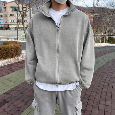 正韓男裝 水洗立領外套 SET UP 套裝 / 3色 / MT7978 KOREALINE 搖滾星球