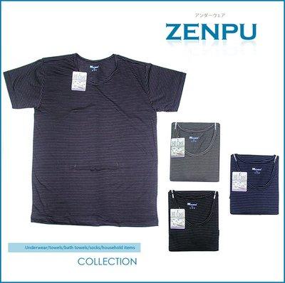 【ZENPU】超值6件組*~MEN.S NONNO輕薄涼條紋T恤/內衣/吸濕排汗/台灣製造/黑灰深藍M-XXL