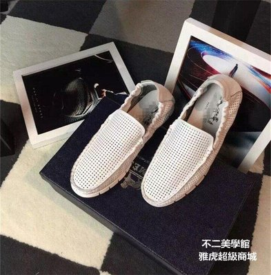 【格倫雅】^主題款休閑豆豆鞋 真皮鏤空透氣男鞋 懶人鞋駕車鞋63838[g-l-y86