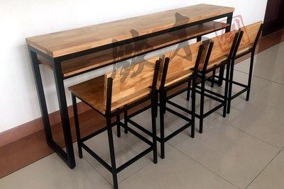 【鐵木創】實木桌 200*40  橡膠木 餐桌  餐桌椅組 高腳桌 邊桌 長桌 吧台桌