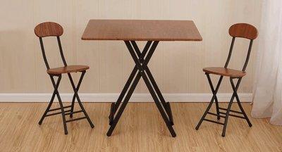 簡易折疊桌 便攜正方形餐桌擺攤桌家用吃飯桌子 小方桌陽臺 折疊桌子  74高度