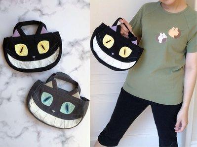 日本卡拉貓~笑嘴惡魔貓手提包