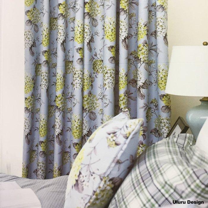 【Uluru】北歐風格窗簾 Hydrangea 繽紛花朵 花 訂製窗簾 捲簾 羅馬簾 波浪簾 S簾 蛇型簾