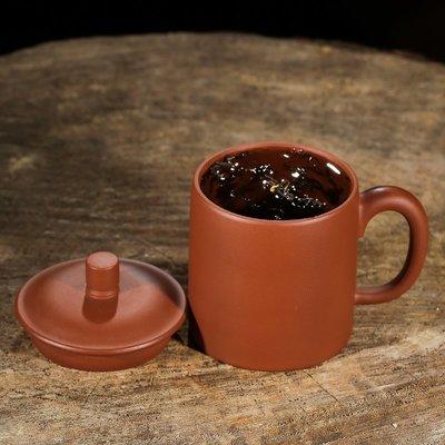 栖凤居 小號紫砂杯帶蓋水杯辦公杯男士泡茶杯宜興全純手工紫砂主人杯茶杯 A2109